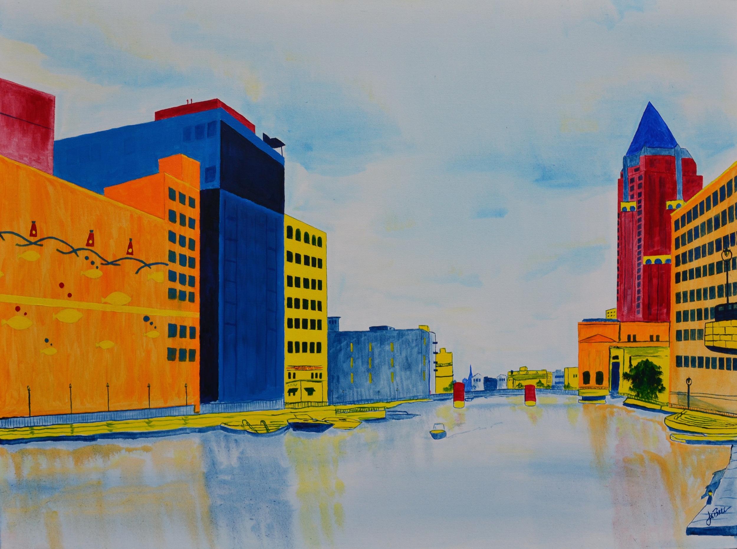 Milwaukee River Scene...