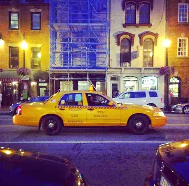 Stereotypical Yellow Taxi - Georgetown M St.