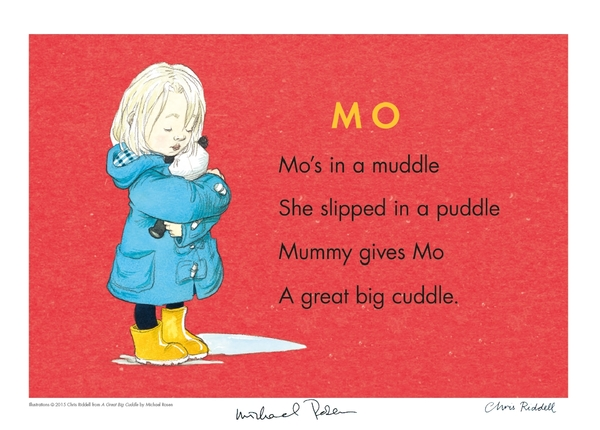 The poem from the book 'A Great Big Cuddle' by Michael Rosen and illustrated by Chris Riddell.