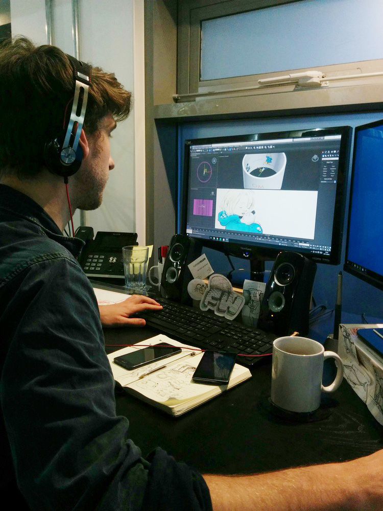 Dave working on the Michael Rosen VR environment