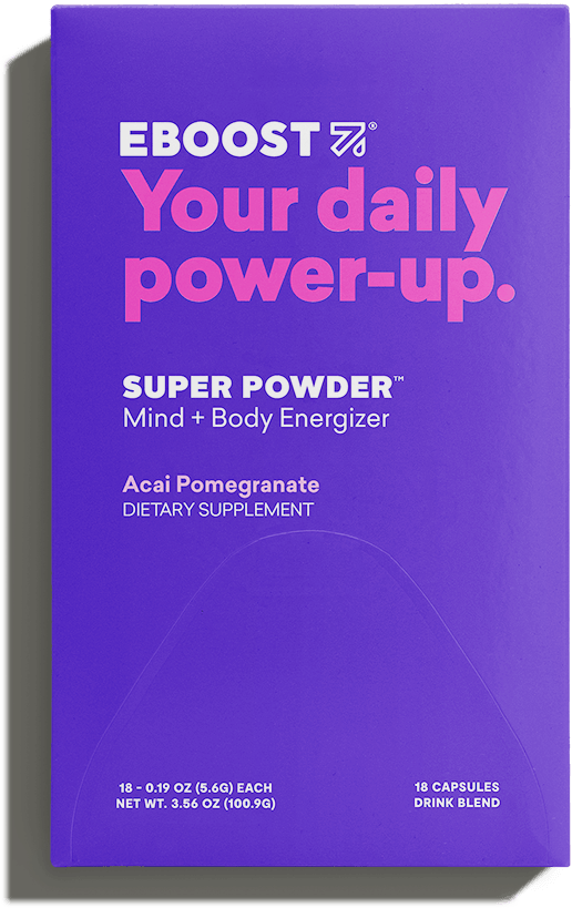 Acai Pomegranate - An effervescent blend of vitamins, electrolytes, antioxidants, nootropics, natural caffeine and other daily essentials supports a lifted mood and increased focus.