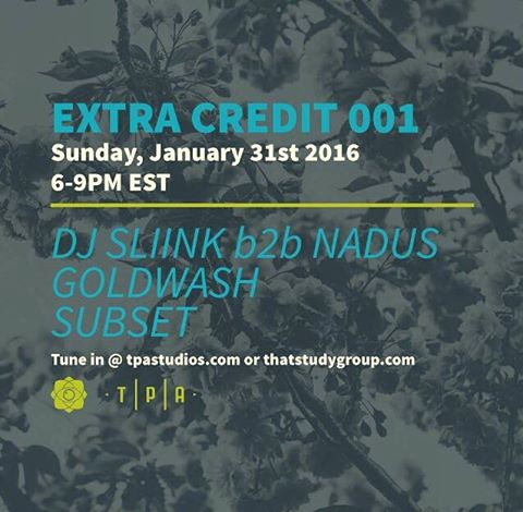 Tune in for our #ExtraCredit session this Sunday with @djsliinknj @nadus @goldwashmusic @subsetgetsit.  You have no excuse to miss gaining major #points as it will be a #LiveStream!  6-9pm @ tapstudios.com & thatstudygroup.com  #TPAStudios #ThatSudyGroup #DJSLiink #Nadus #GoldwashMusic #SubsetGetsIt #Brooklyn #MusicEducation #Session #RSVP #MusicEdu