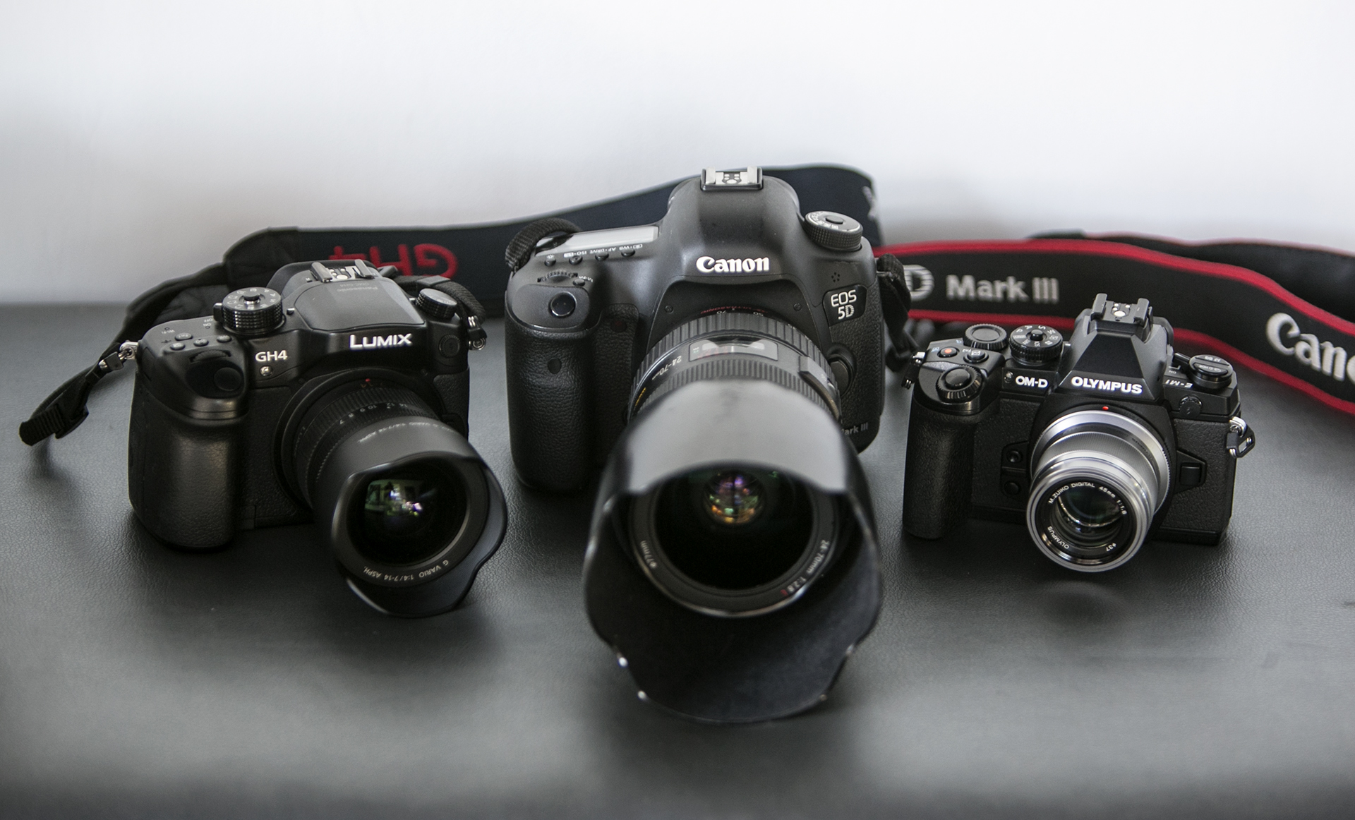 Left to Right... Olympus OMD-EM1 | Canon 5D Mark III | Panasonic Lumix GH4