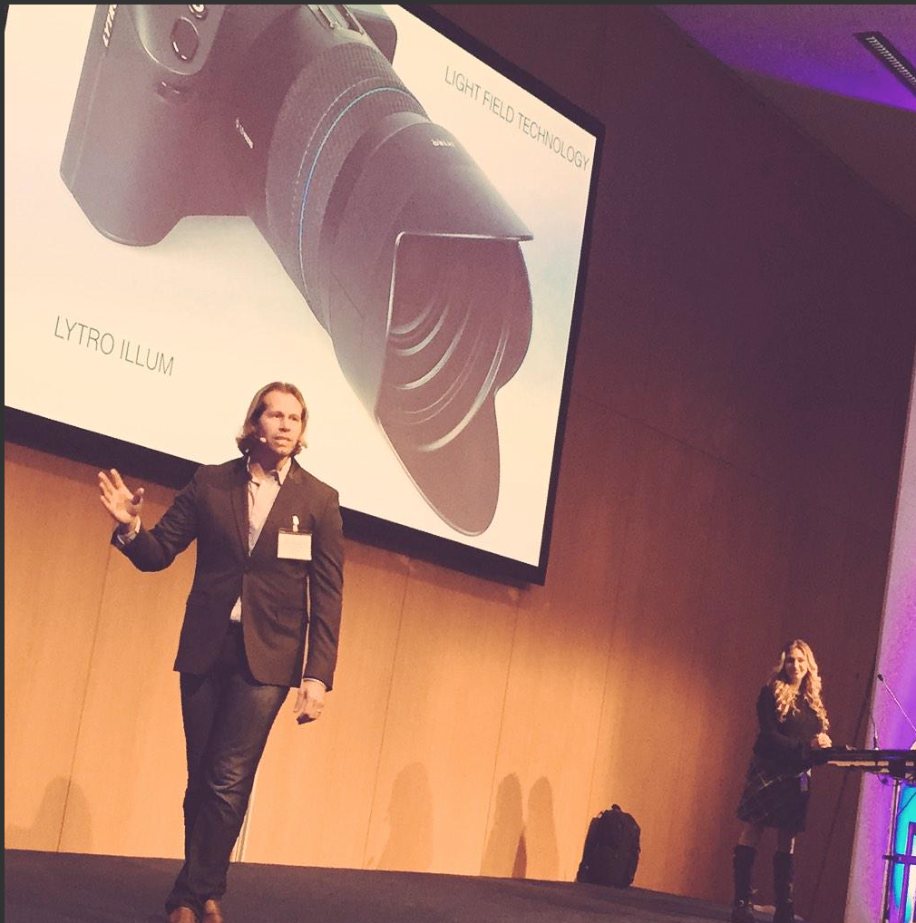 Charles and Jennifer Maring giving a Keynote Speech at an technology and Imaging Conference in Cologe, Germany