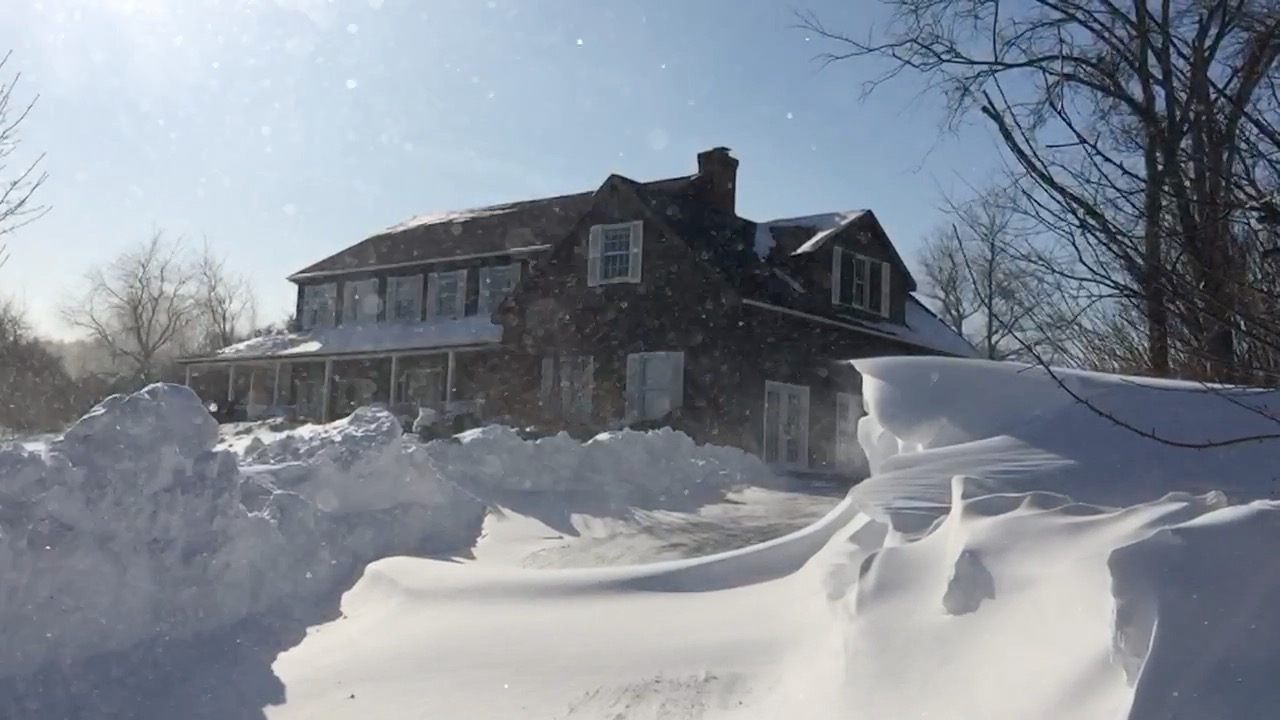 7 foot snow drift at our home in connecticut