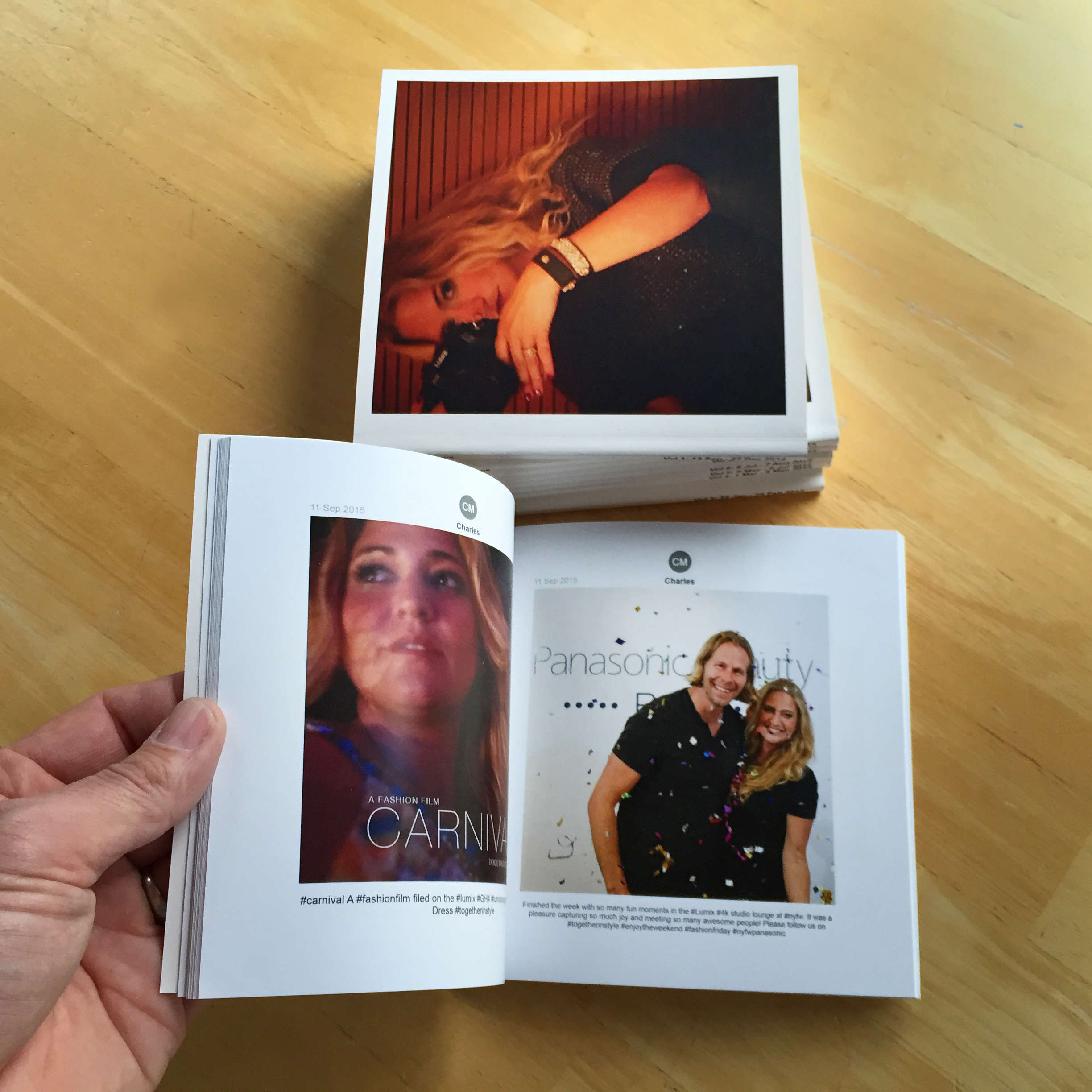 The text of our instagram photographs were all below the images automatically, and the chatbooks print quality was lovely.