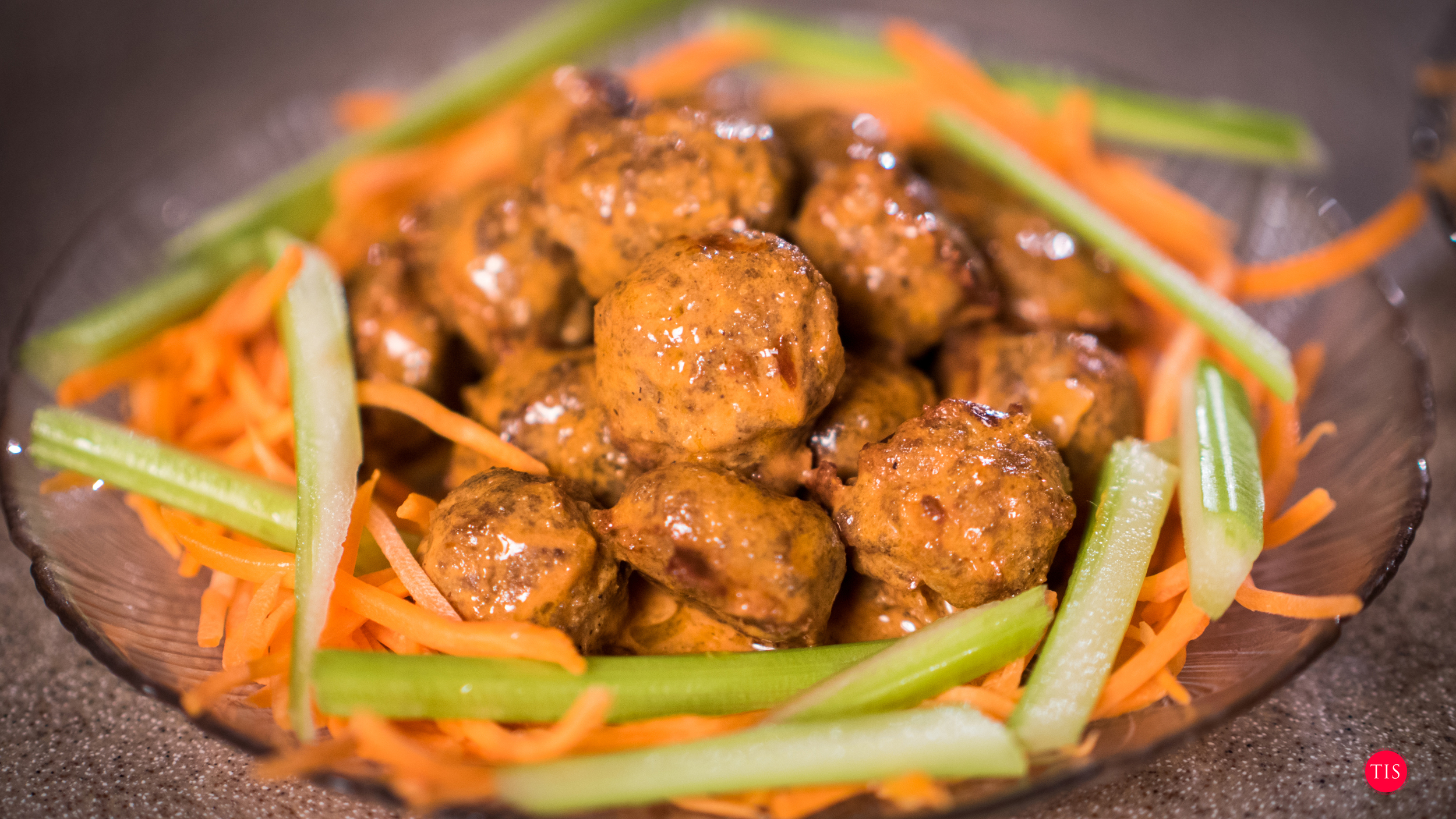Jennifer Maring's Buffalo Chicken Meatball Recipe... Perfect for NYE or a Superbowl Party.