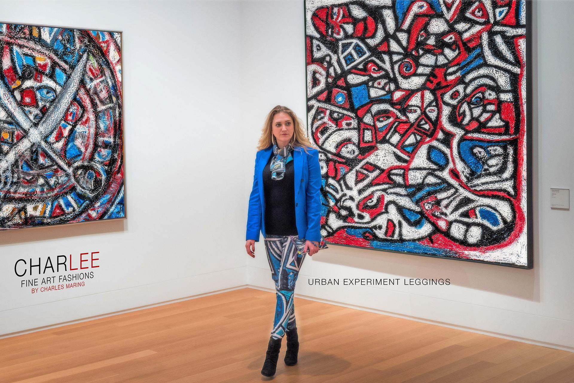 Charlee Urban Experiment Leggings and Paintings