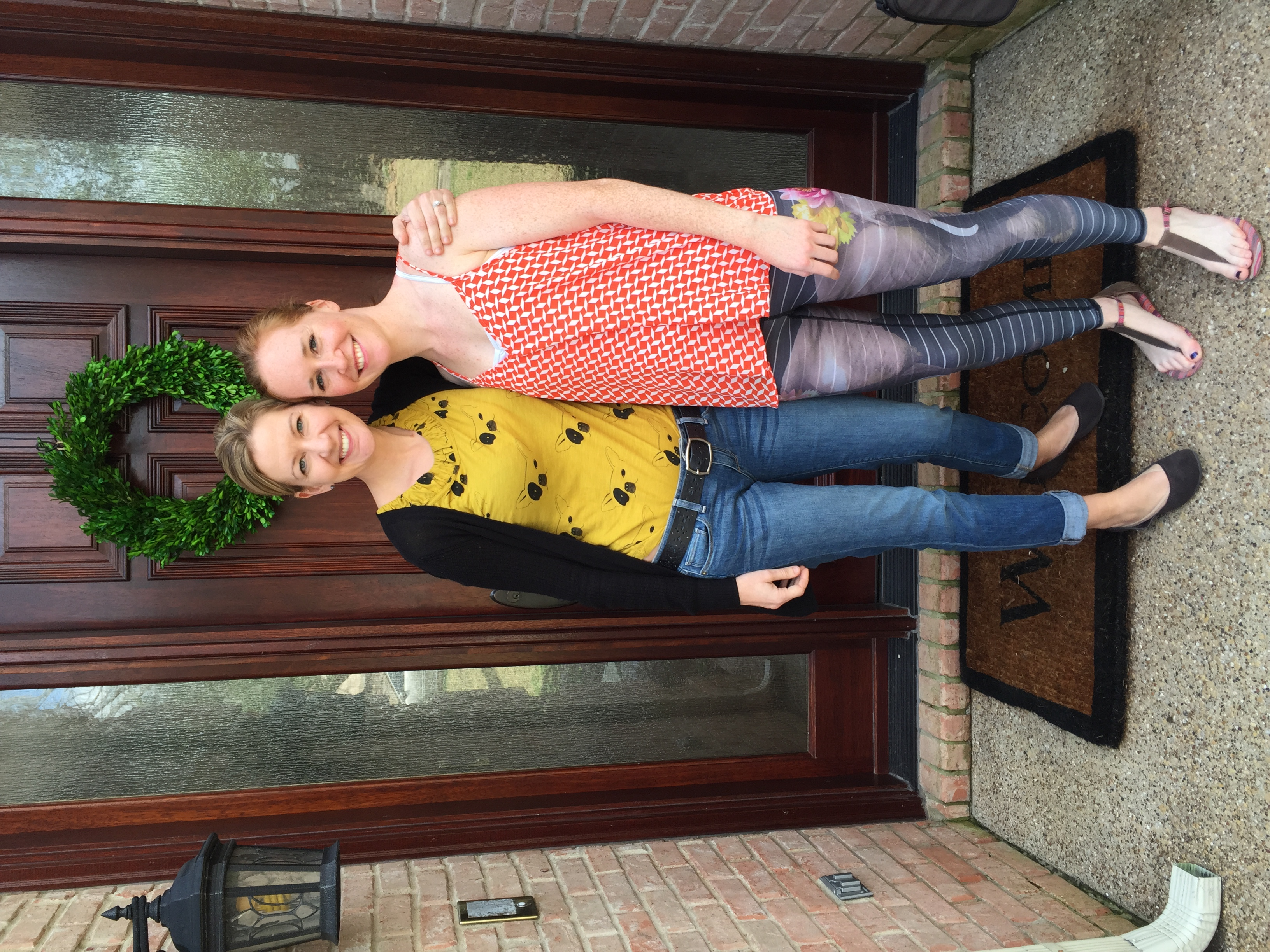 Me and Angie in Dallas, March 2015. After agreat lesson - and I'm still smiling (and so is she!).Ignore the pants - my mom says they make me look like I have Gangrene. She doubts my yoga-chic fashion choices all of the time.