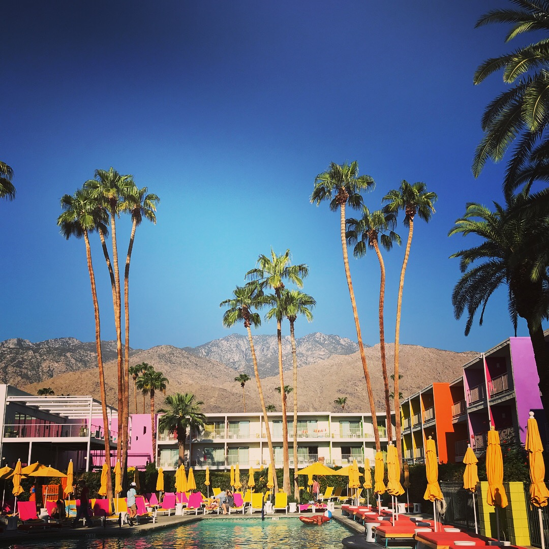 The Saguaro in Palm Springs before the raging Pool Party Started.