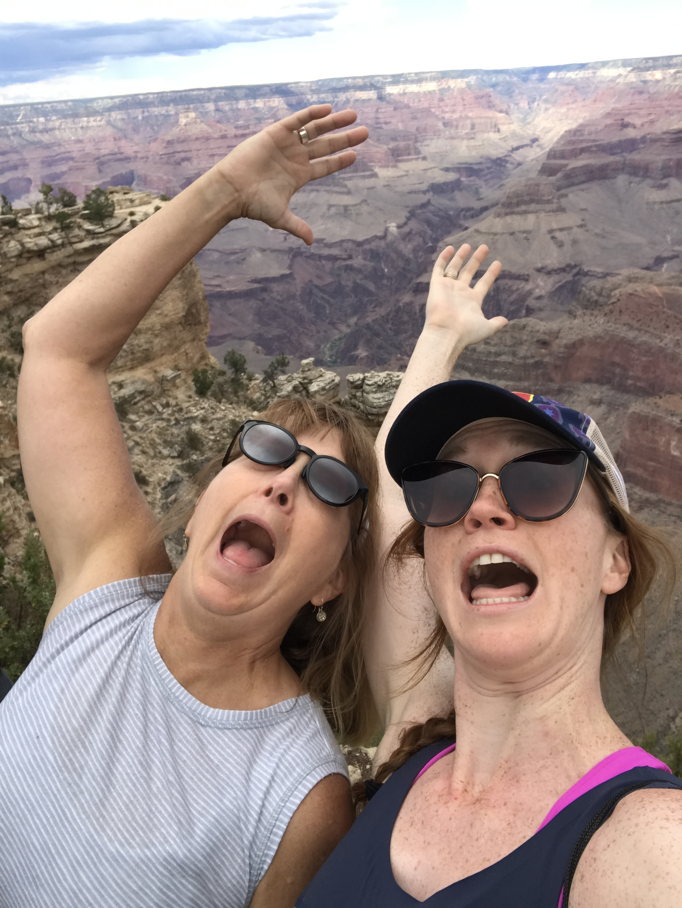 falling in the Grand Canyon. Blanche took this picture right before she pulled us back to safety.