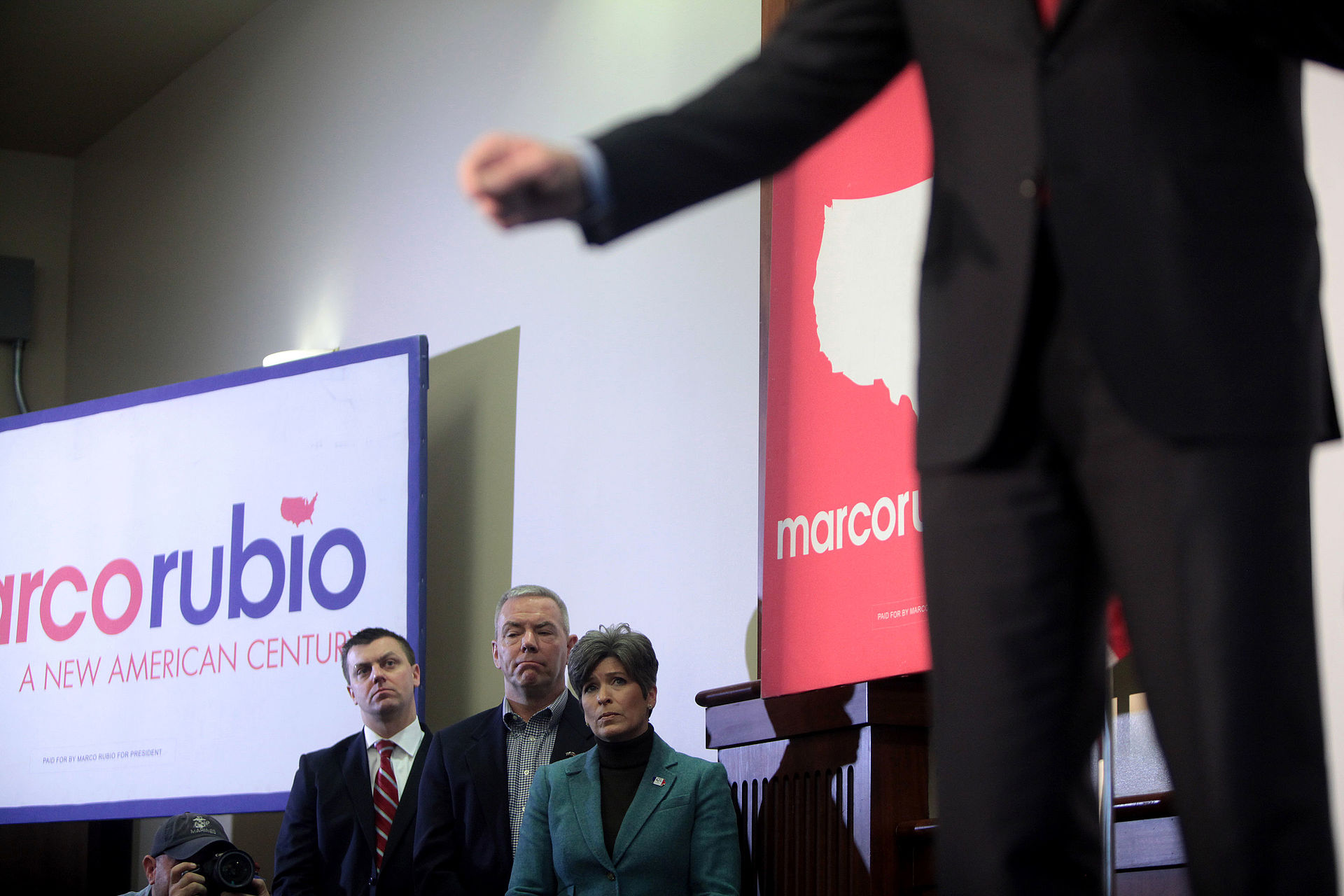 Senator Marco Rubio with Senator Joni Ernst in Iowa, 2016
