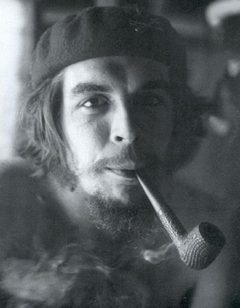 Che Guevara with a pipe