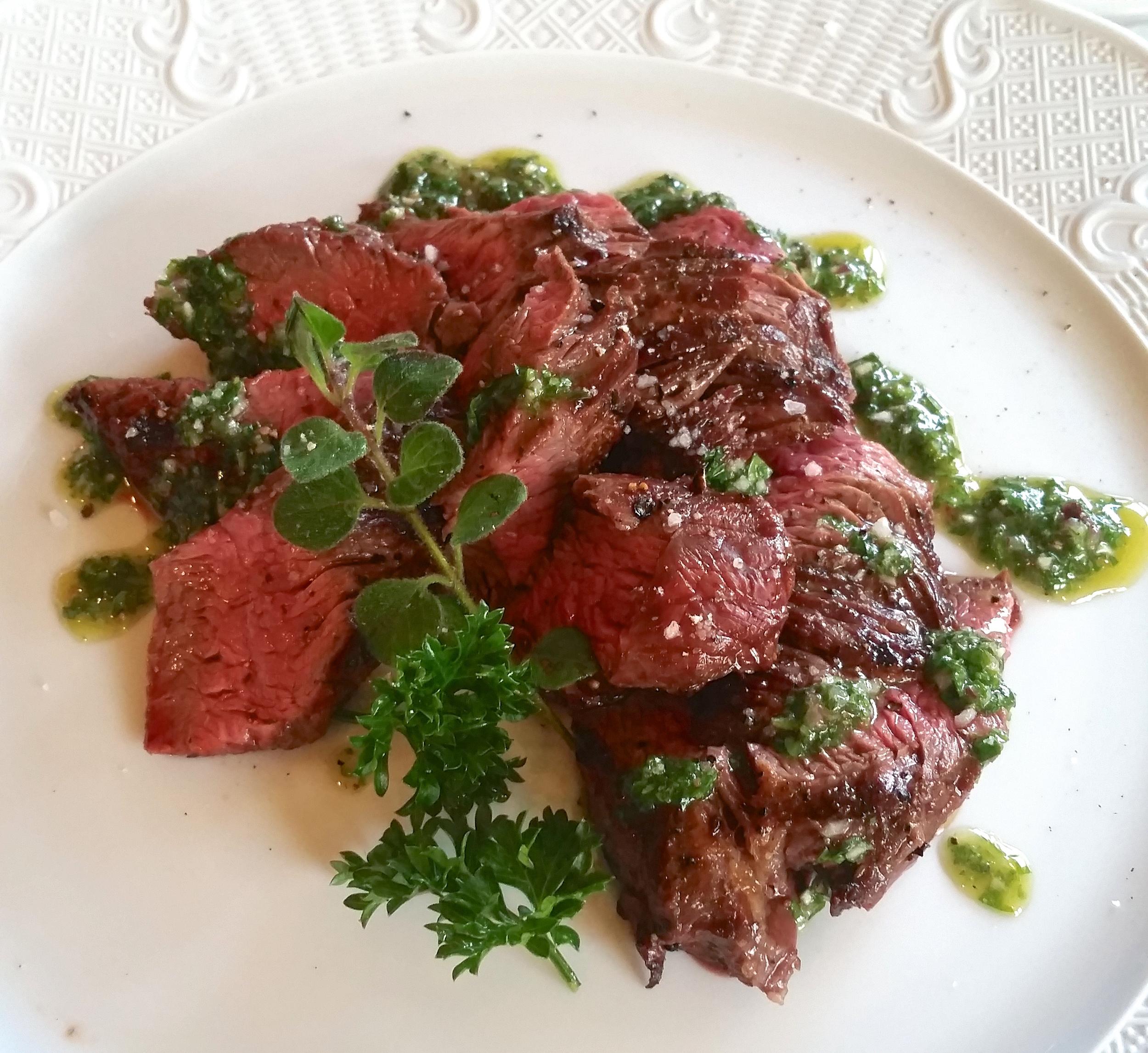 Randall Lineback Flank Steak with Chimichurri