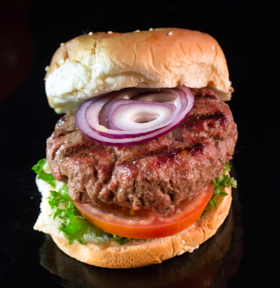 Randall Lineback Burger- heritage, grassfed meat at its best.