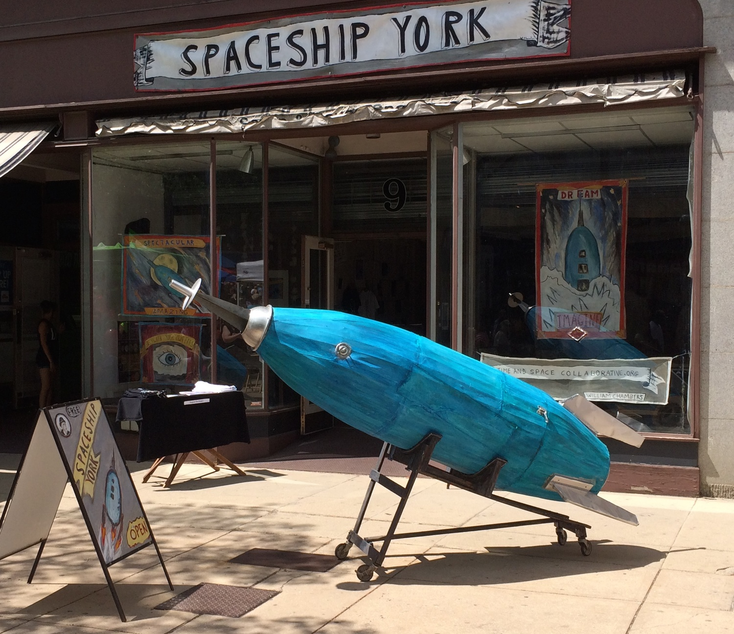 William Chambers,  Spaceship York , 2016. An interactive community installation where collected dreams were sent to space, York, PA.  Photo courtesy of  the artist.