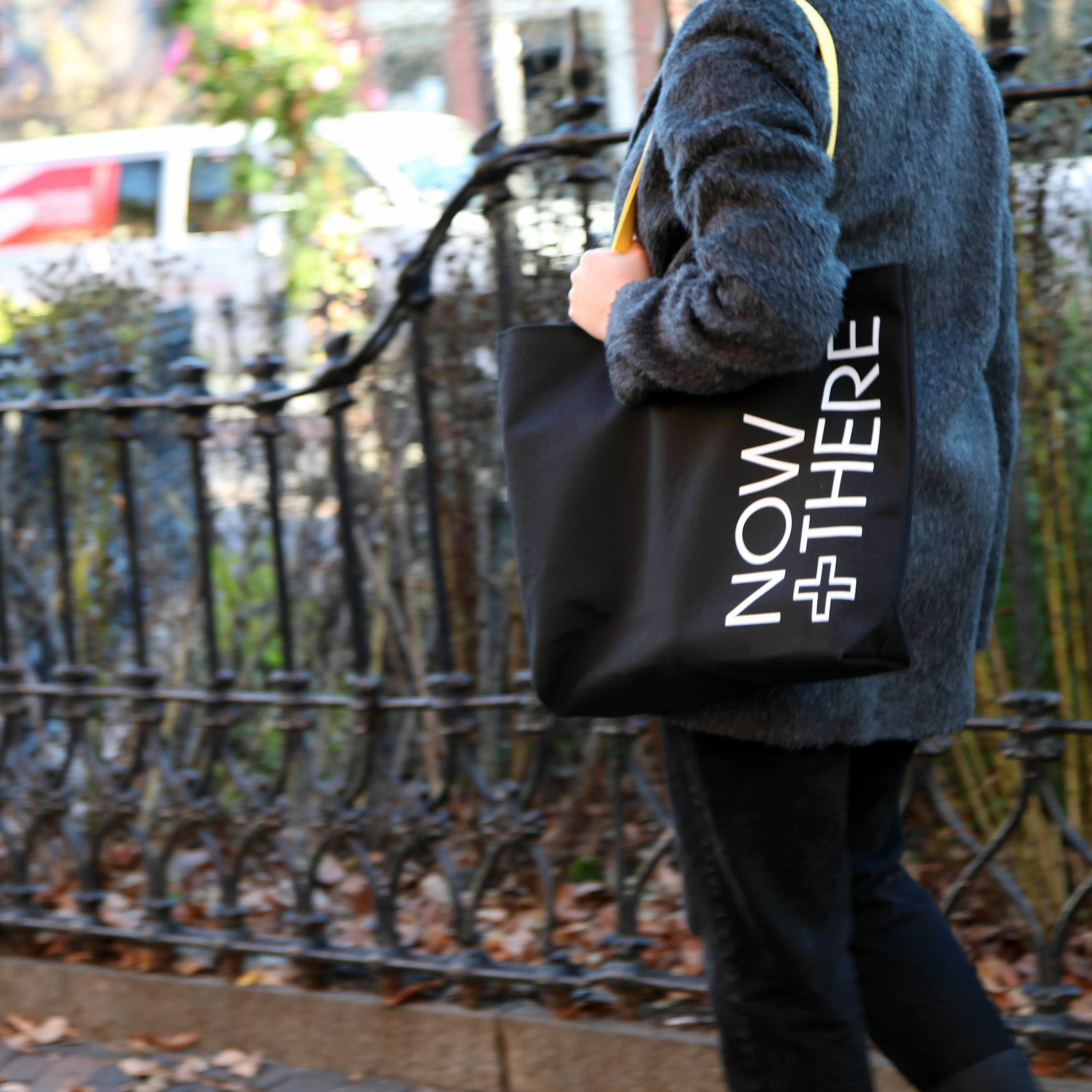 Now + There canvas tote bag