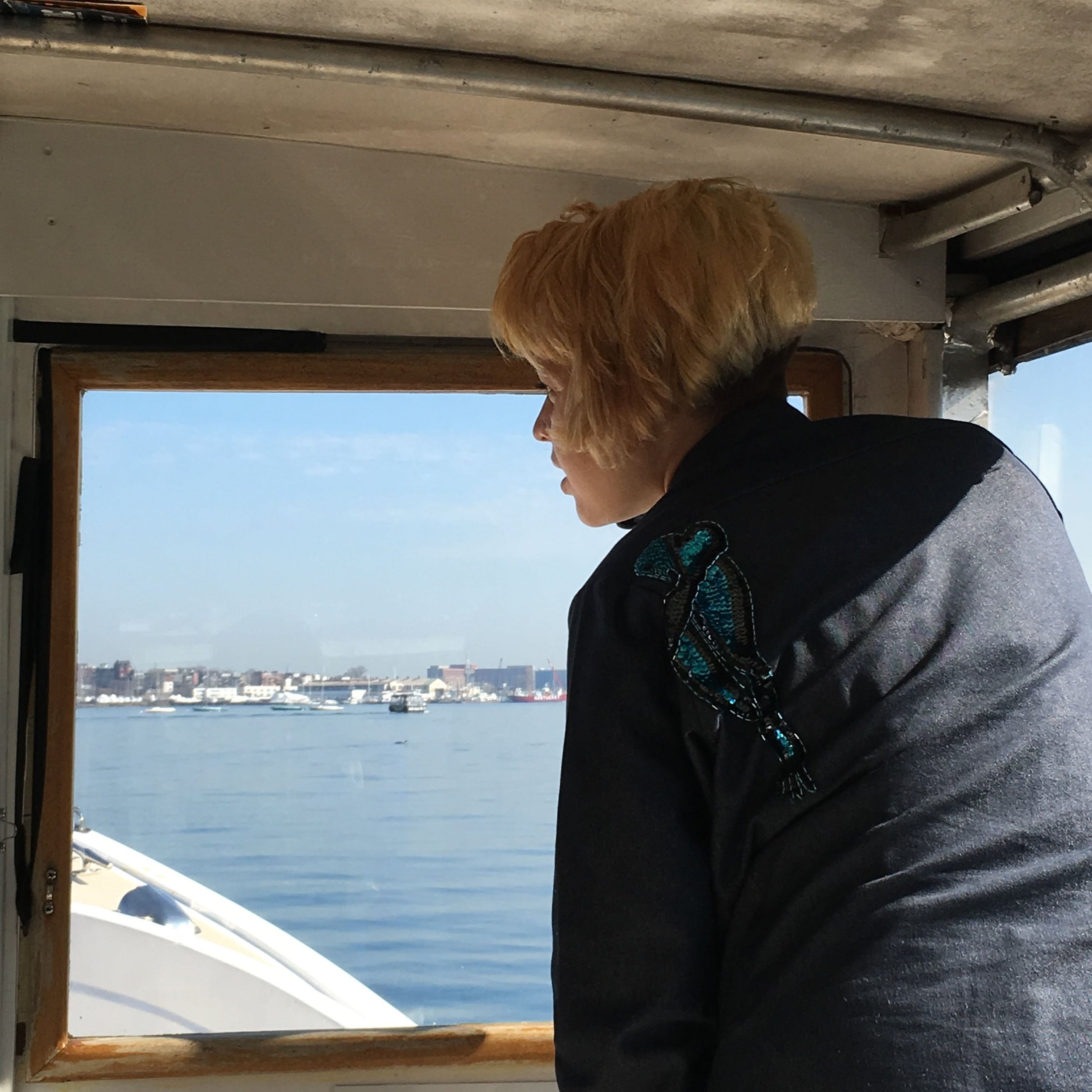 MIT Media Lab research assistant Mirium Simun explores Boston Harbor