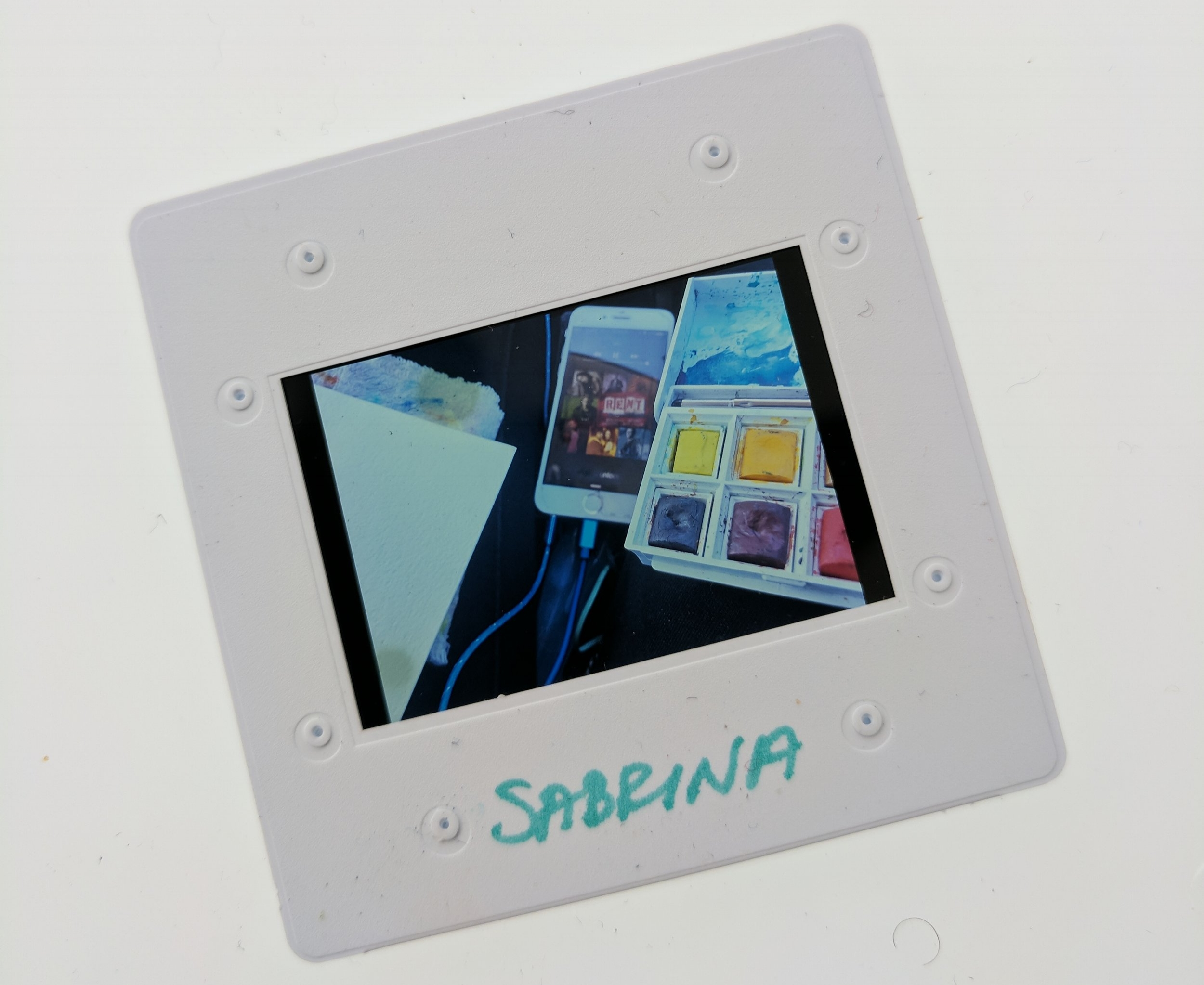 A slide with an image from Sabrina's collection.