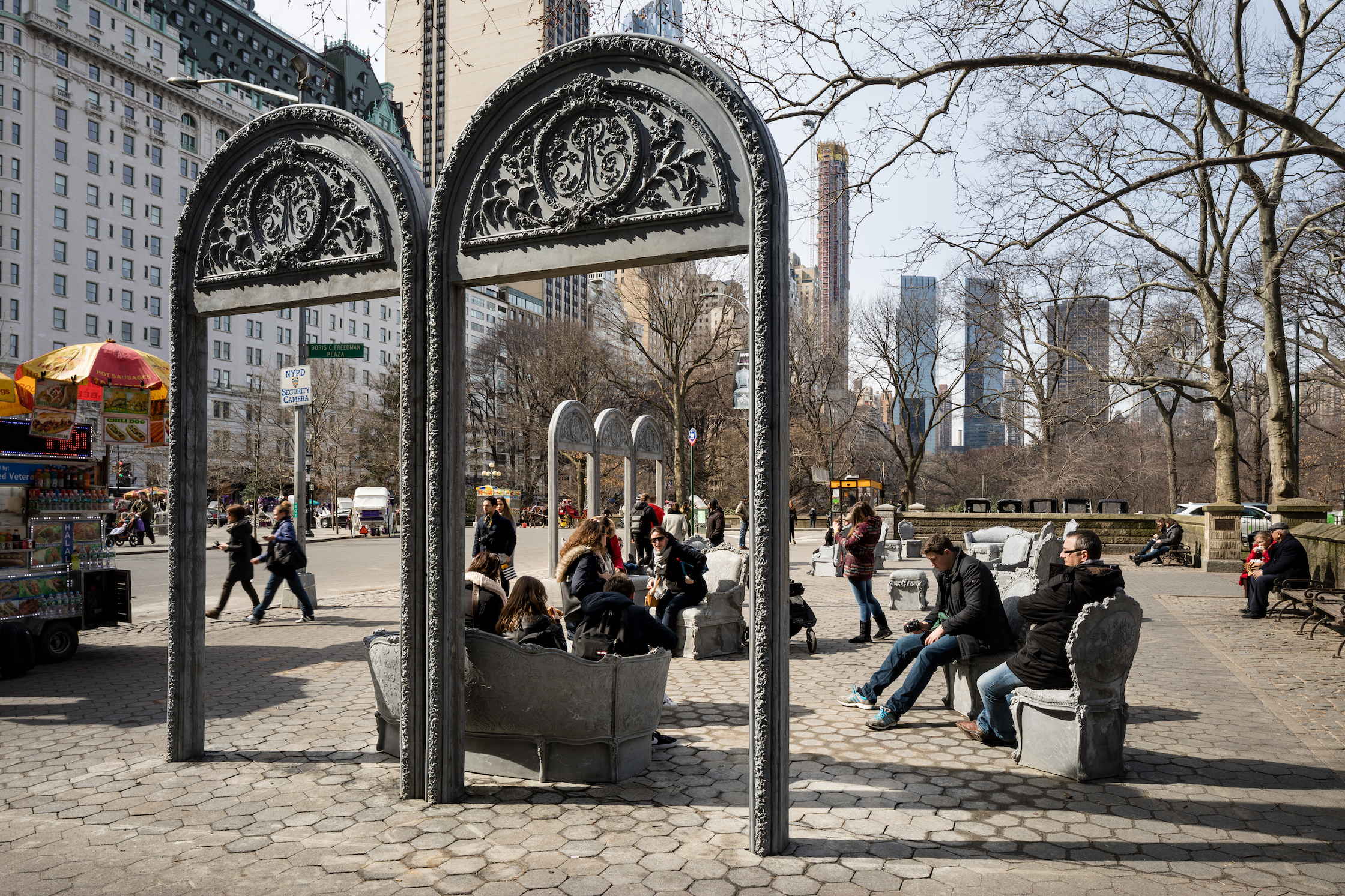 Liz Glynn. Installation view, Open    House , 2016. Cast Concrete. Installation approximately 83 x 44 x 13 feet. Organized for Boston by Now + There, Open House was commissioned and originally presented in 2017 by Public Art Fund in Central Park,New York in cooperation with the artist and Paula Cooper Gallery.