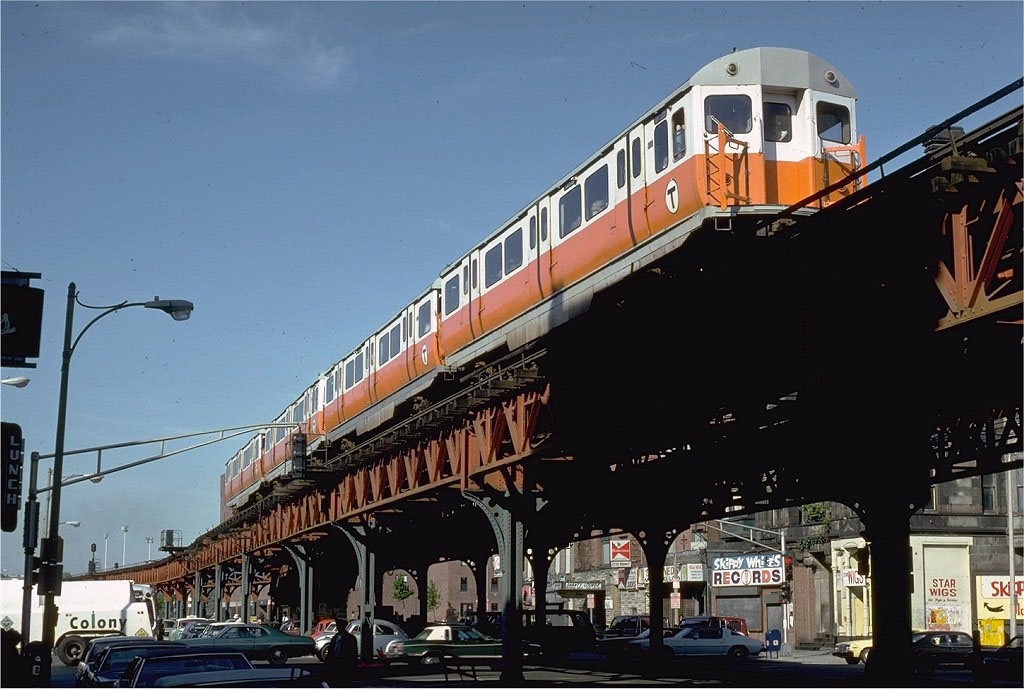 Scenes from the Washington Street Elevated portion of the MBTA's Orange Line