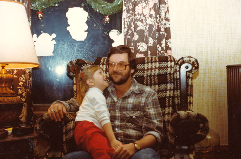 "Paul during his ""plaid period"" with one of the loves of his life--Heather."