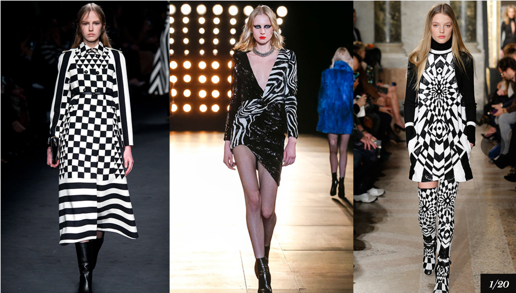 Graphic black and white! Photo credit: Vogue.fr