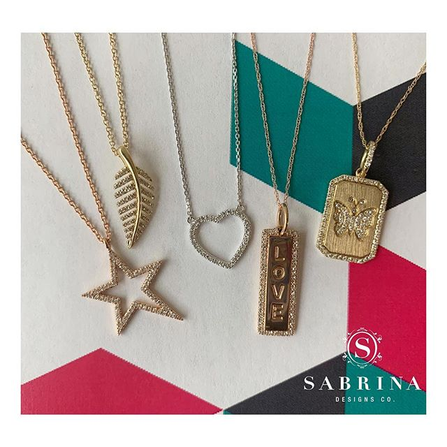 Super cute necklaces have arrived just in time for Mother's Day! Which necklace is your favorite? 🥰 • • • • • #SabrinaDesigns #diamondbracelet #finejewelry #diamondbands #diamondsareagirlsbestfriend #diamondbangles #Sabrina #14K #diamondsandgold #jewelry #thinhoops #diamondhoops #goldjewelry #jewelrygoals #linkbracelet #sparkle #giftideas #gift #bling #pinkgold #yellowgold #whitegold #18K #mothersday