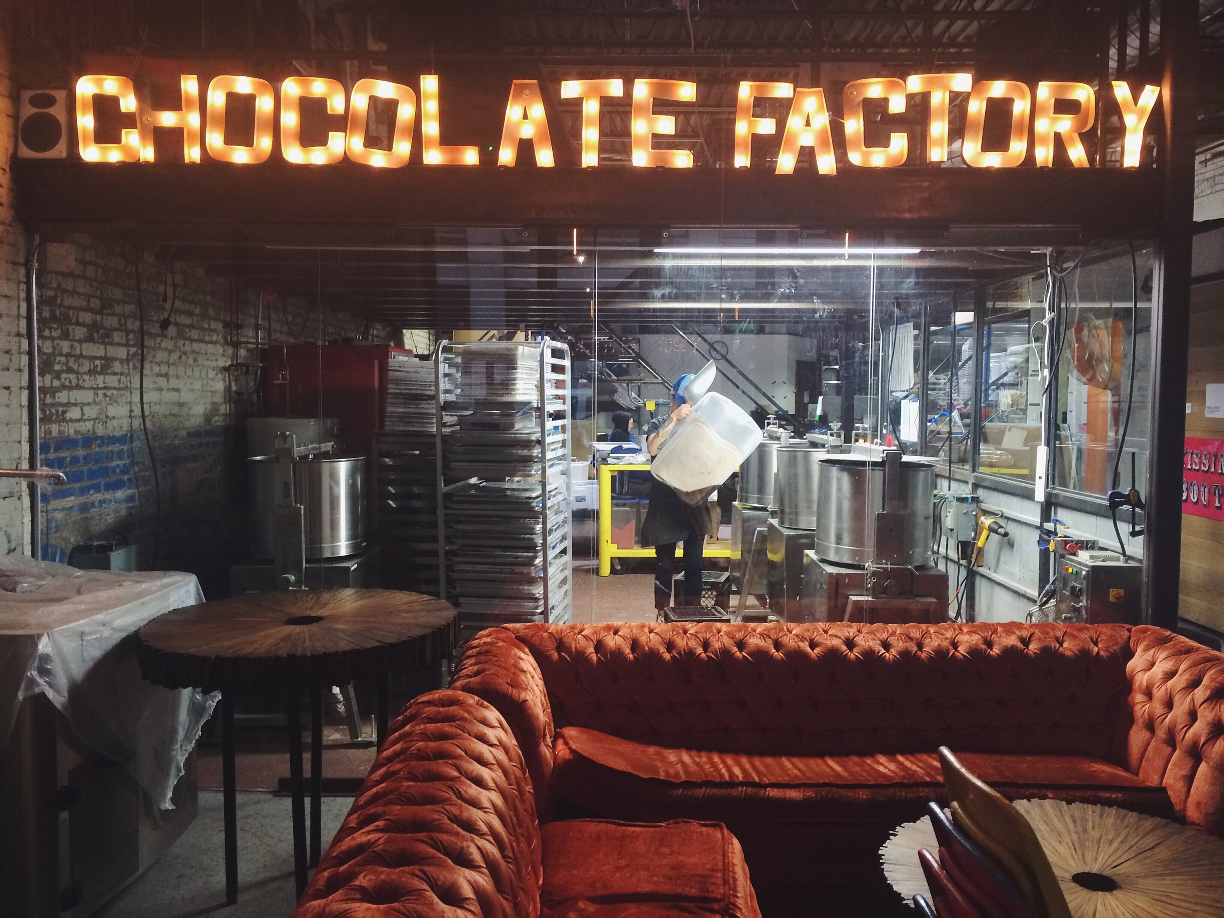 Fine + Raw Chocolate Store in Brooklyn, NY. Visited after our graffiti tour on Thursday.