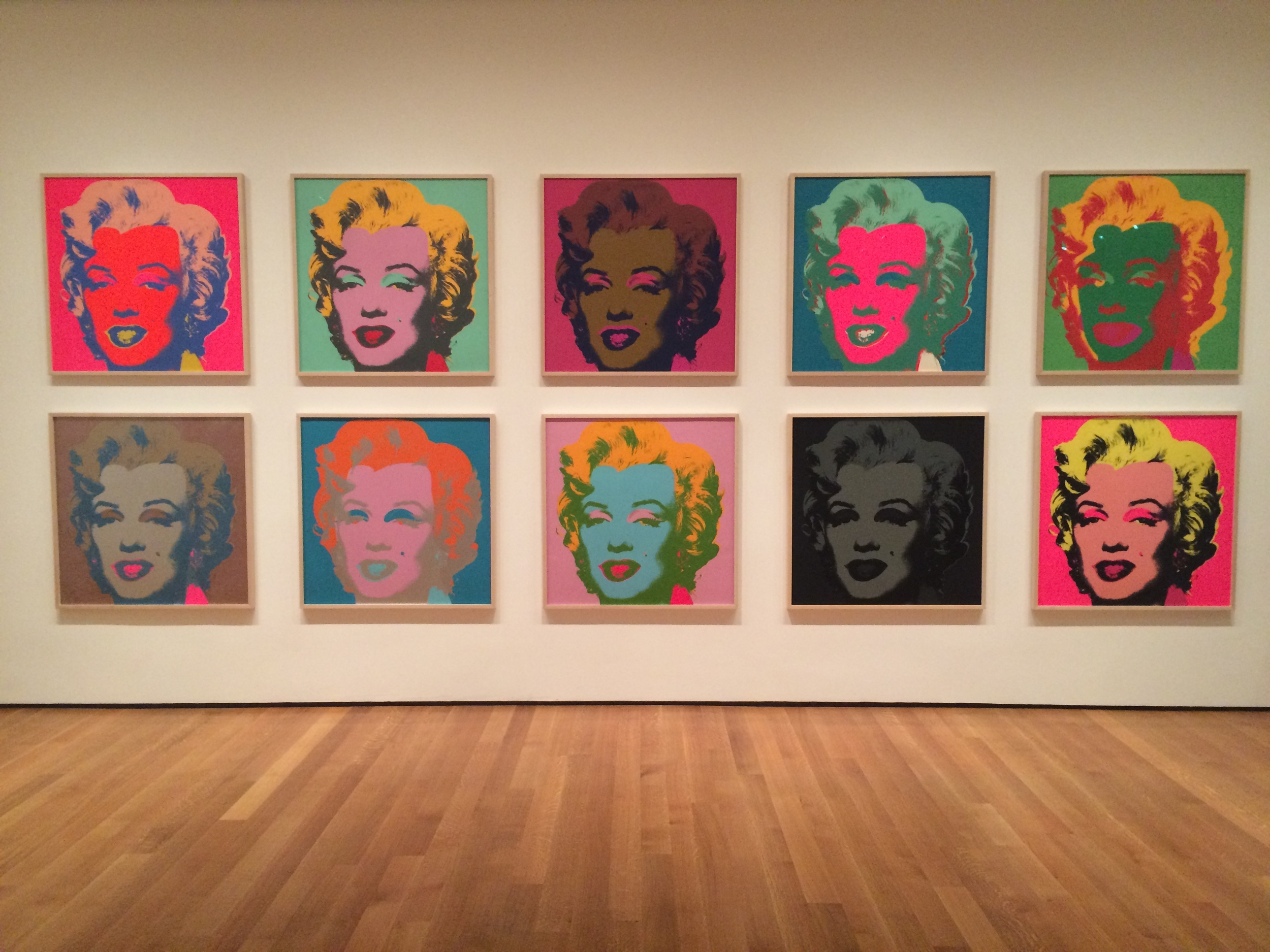 We visited MoMA on Friday and they had an entire Warhol exhibit! After writing about three papers on him for my summer classes, I was completely enamored with seeing his work. Especially these Marilyns!