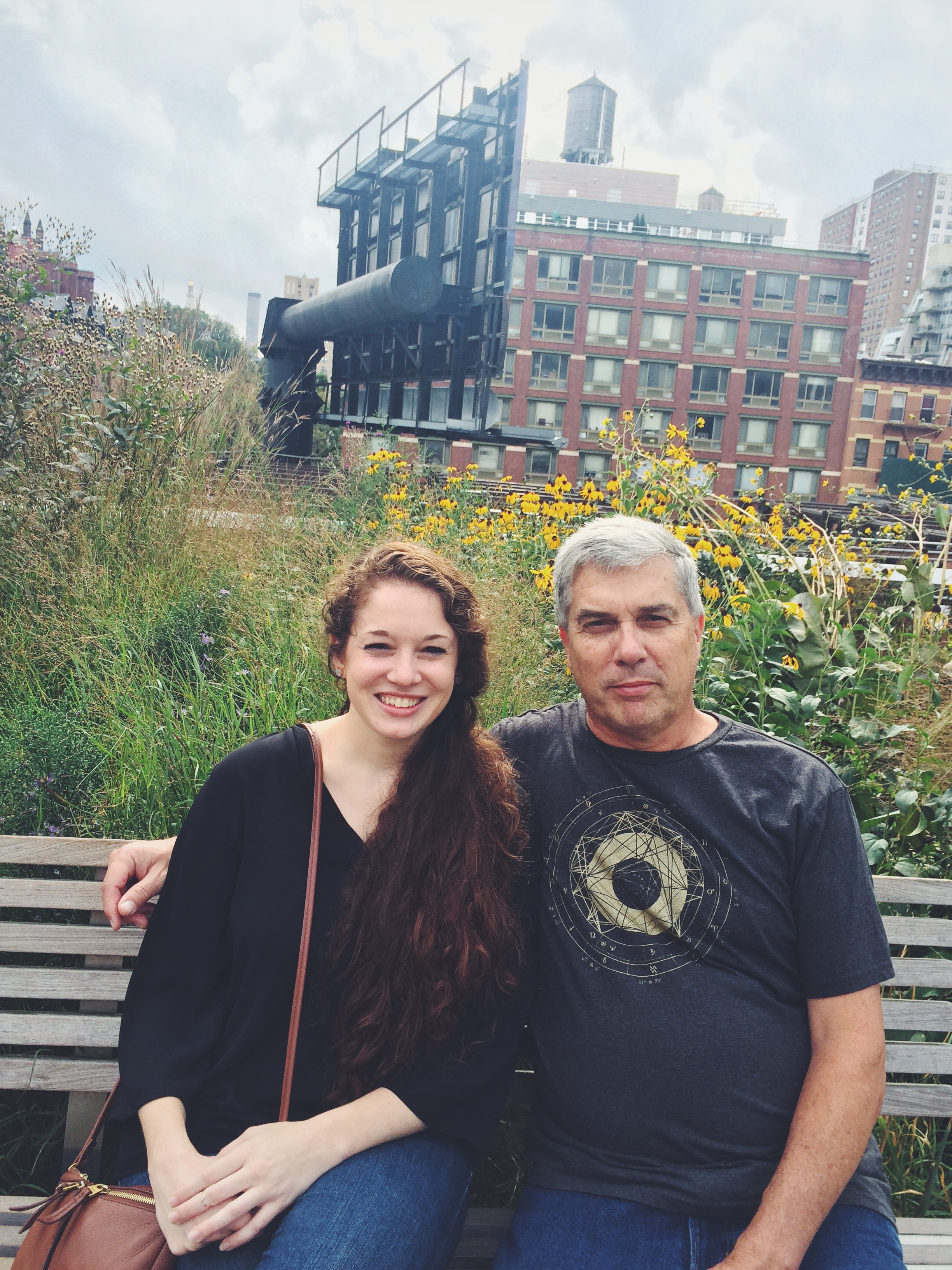 Me and my dad on the Highline Walking Tour.