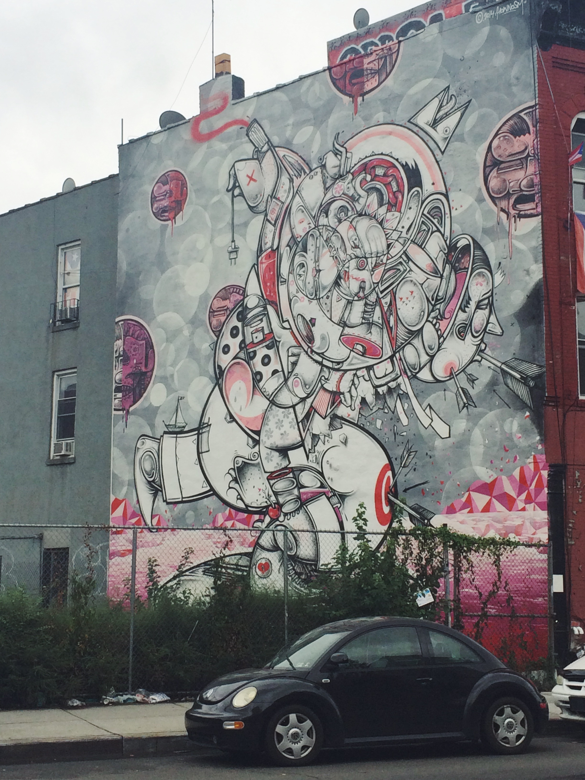 From the Graffiti tour in Brooklyn. This was a legal piece that was commissioned.