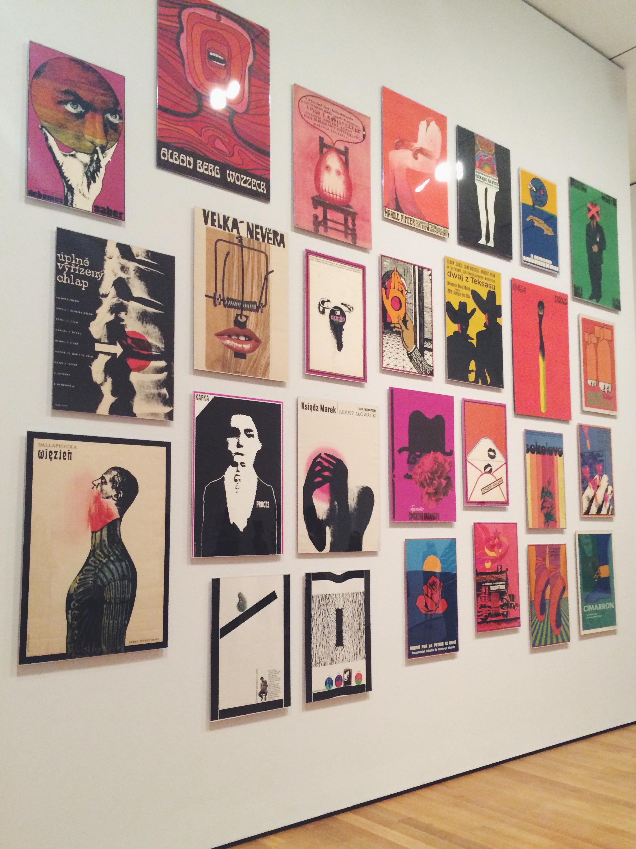 Poster art at MoMA.