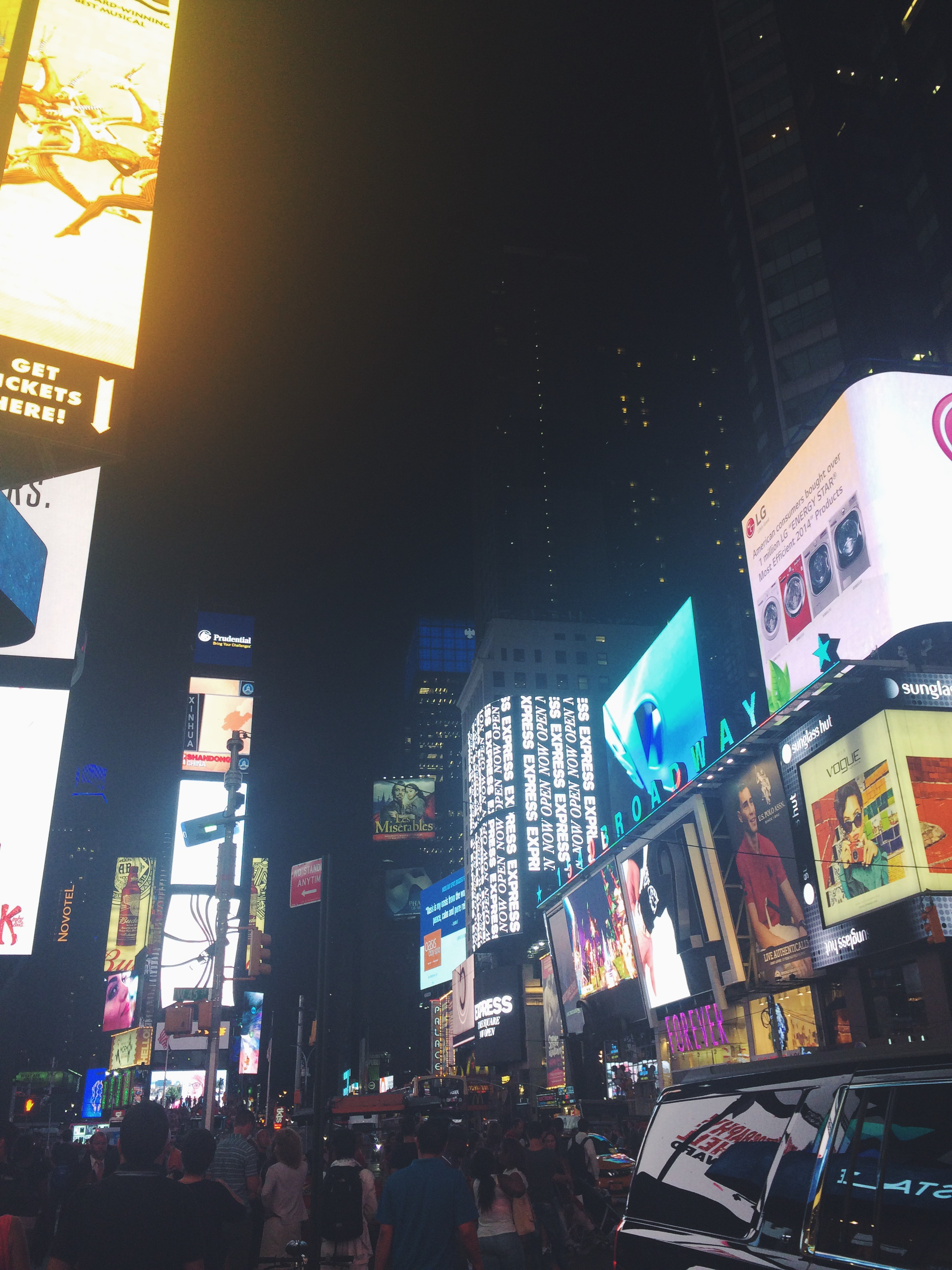 Times Square. This actually may have been my least favorite part of New York; it was just giant versions of the stores I've always had around me. I much preferred the small +unique boutiques.