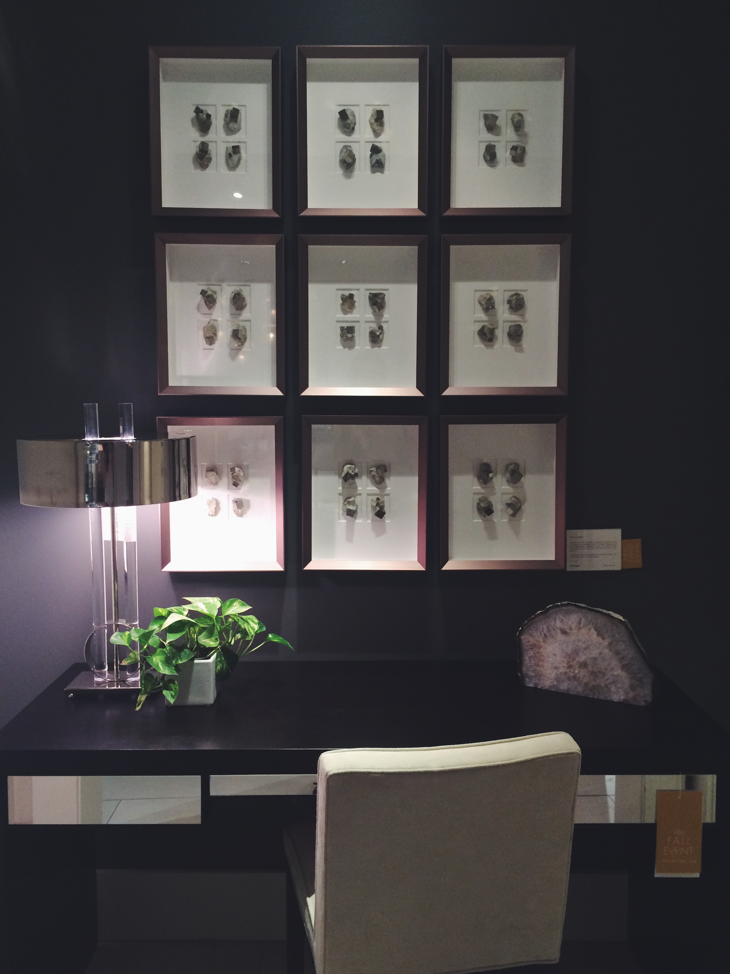 Another furniture design store we wandered through. They had framed geodes in shadow boxes - love!