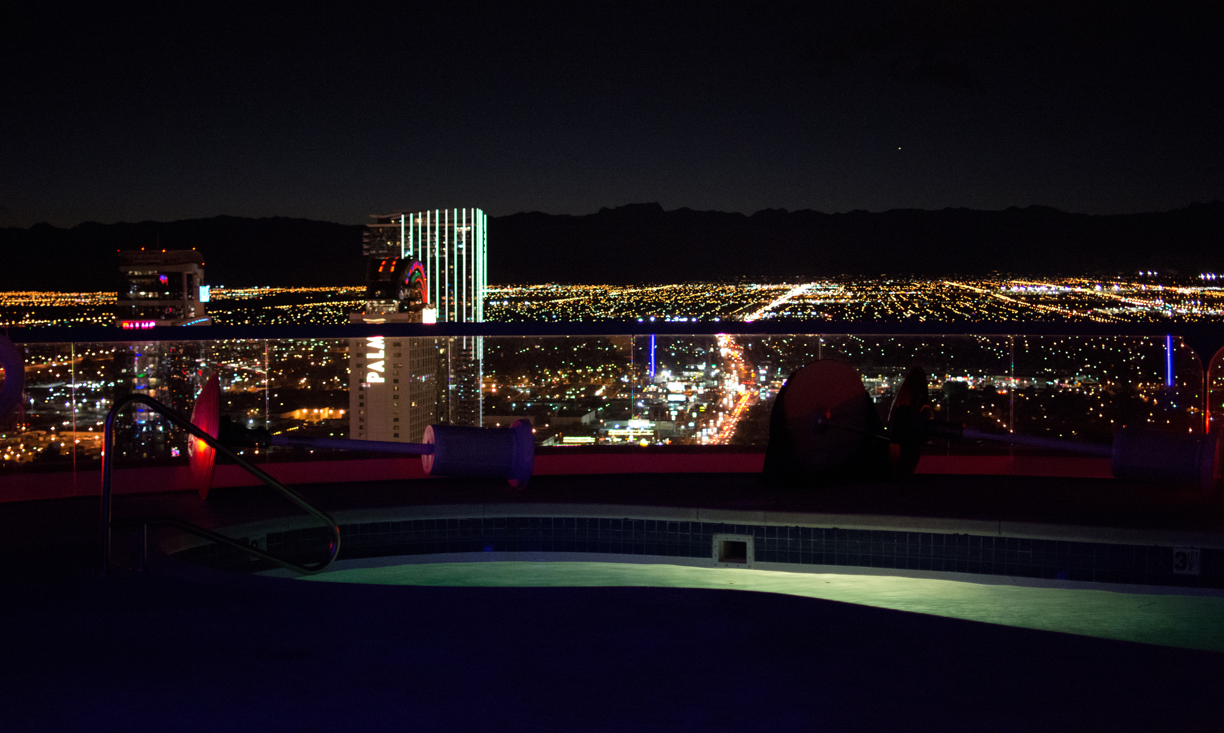 View from the rooftop patio in the Presidential Suite on the 51st floor of the  Rio Hotel
