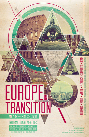 Europe in Transition,  Print Design 2013