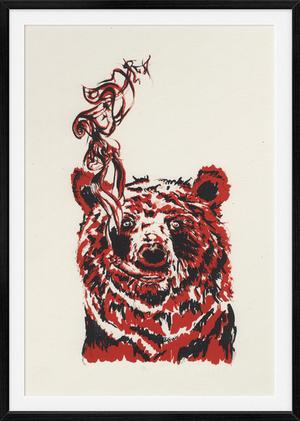 Smokey the Bear, 2-color Lithograph 2013