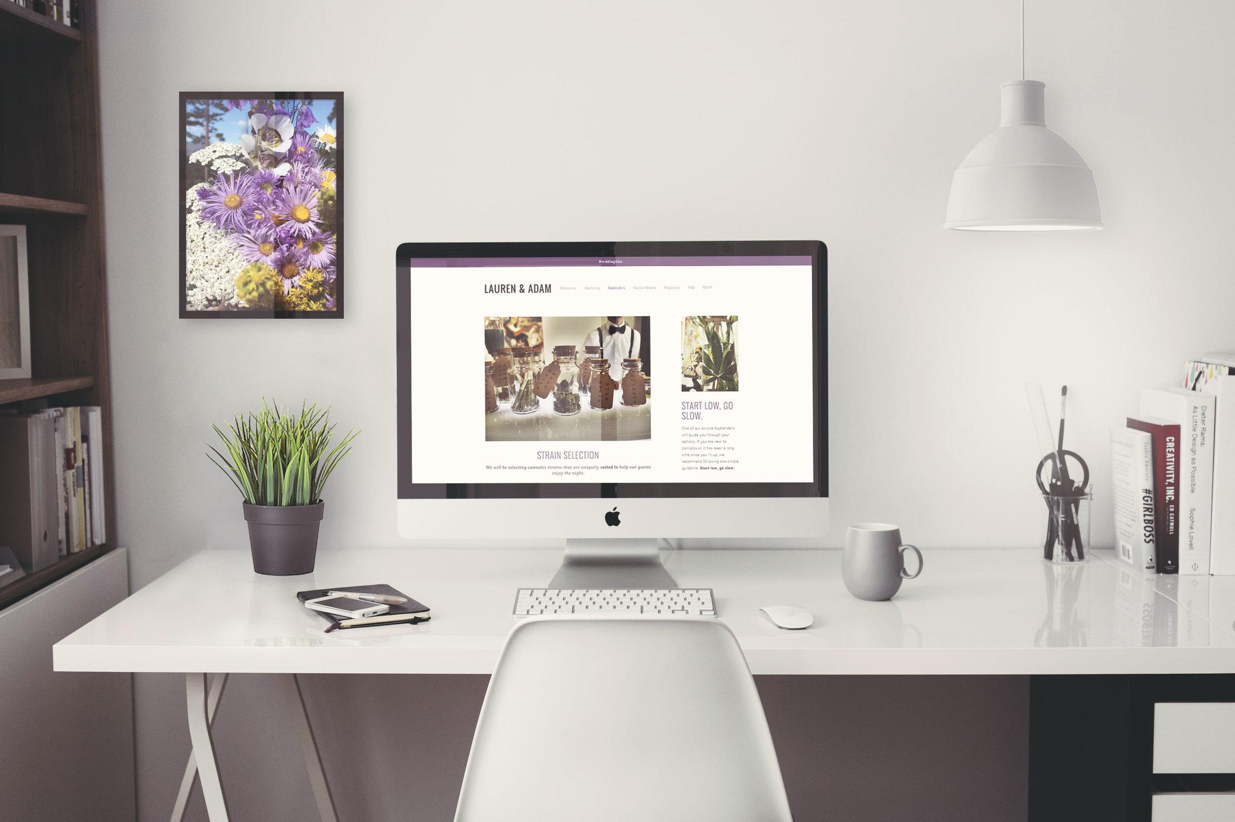 Weed Wedding,  Website Design 2016