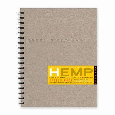 Hemp Heritage Sketch Book /  Green Field Paper $16