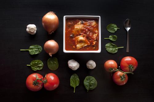 Spinach Ravioli Soup