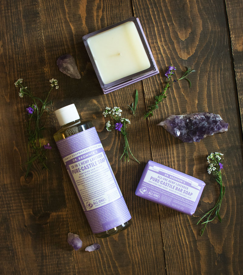 Dr. Bronner's 18-IN-1 Hemp Lavender Pure-Castile Liquid Soap,   Dr. Bronner's 18-IN-1 Hemp Lavender Pure-Castile Bar Soap,   Lollia Perfume Collection: Bittersweet