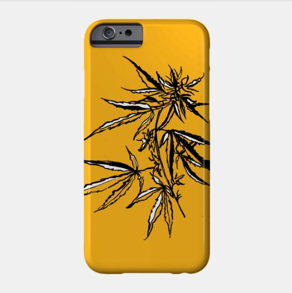 cannabis-illustration-phone-case-kristen-wiliams-designs