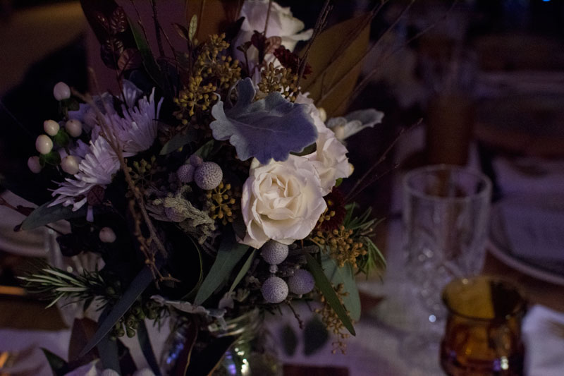Bec Koop of Irie Weddings & Events put together the gorgeous floral arrangements for the evening