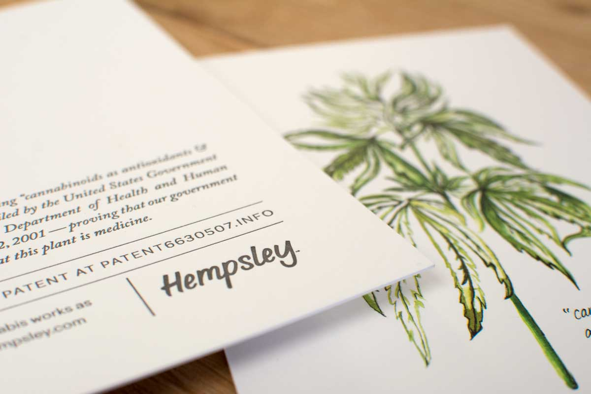watercolor-botanical-cannabis-illustration-letterpressed-hempsley-kristen-williams-designs
