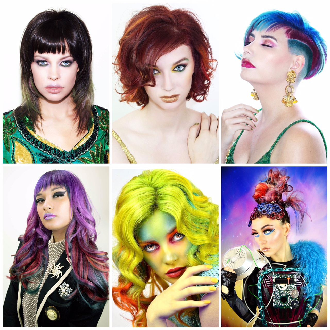 my winning images make up by Isidro Valencia, Andrea Ahl & Kelsey Taylor Fell.  models L to R Rebecca Bien, Jacey Calloway, Maryah Walters, Samantha Roman, Alexis Gibson & Alexis Underwood