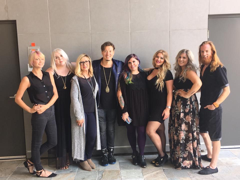 NBT winners with hair colorist, Rebecca Taylor and model, Darija