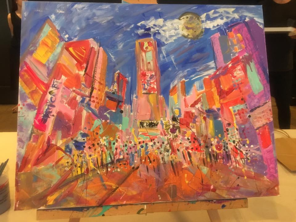 Time Square painted by me