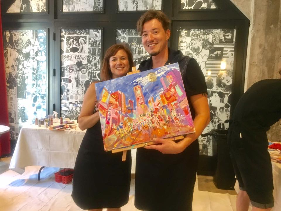 with artist, Jennifer Bonneteau