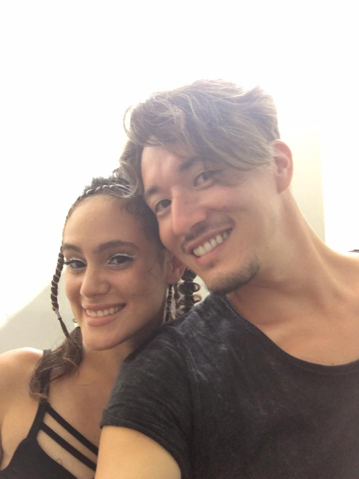 Selfie with model, Maria Martin